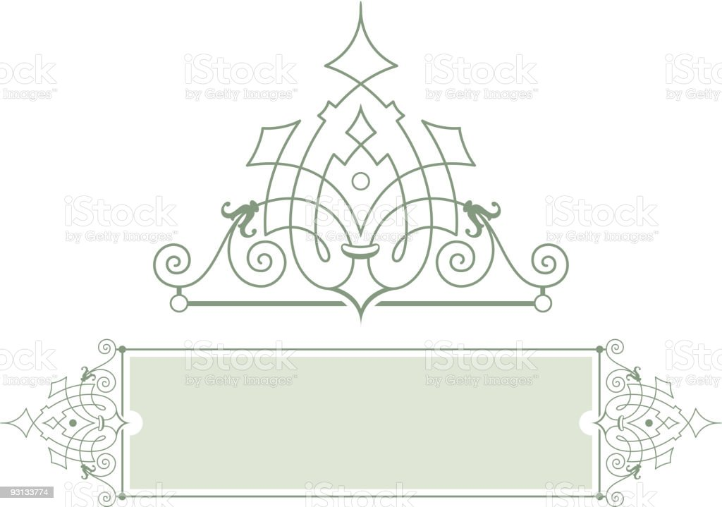 scroll and panel design royalty-free stock vector art