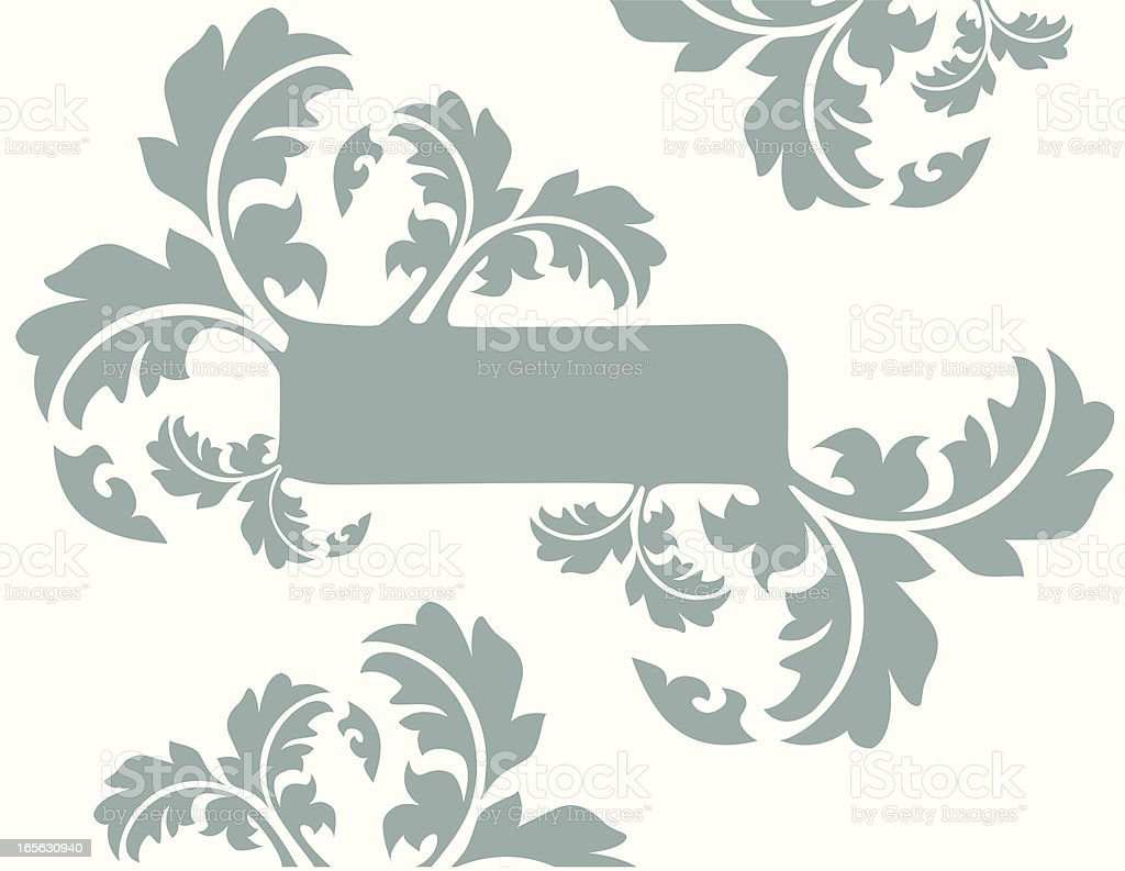 scroll banner vector art illustration