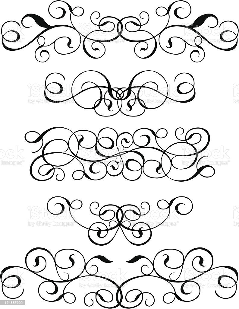 Scroll, cartouche, decor, vector royalty-free stock vector art