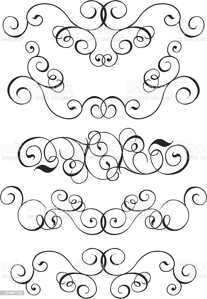 Scroll, cartouche, decor, vector royalty-free stock vector art