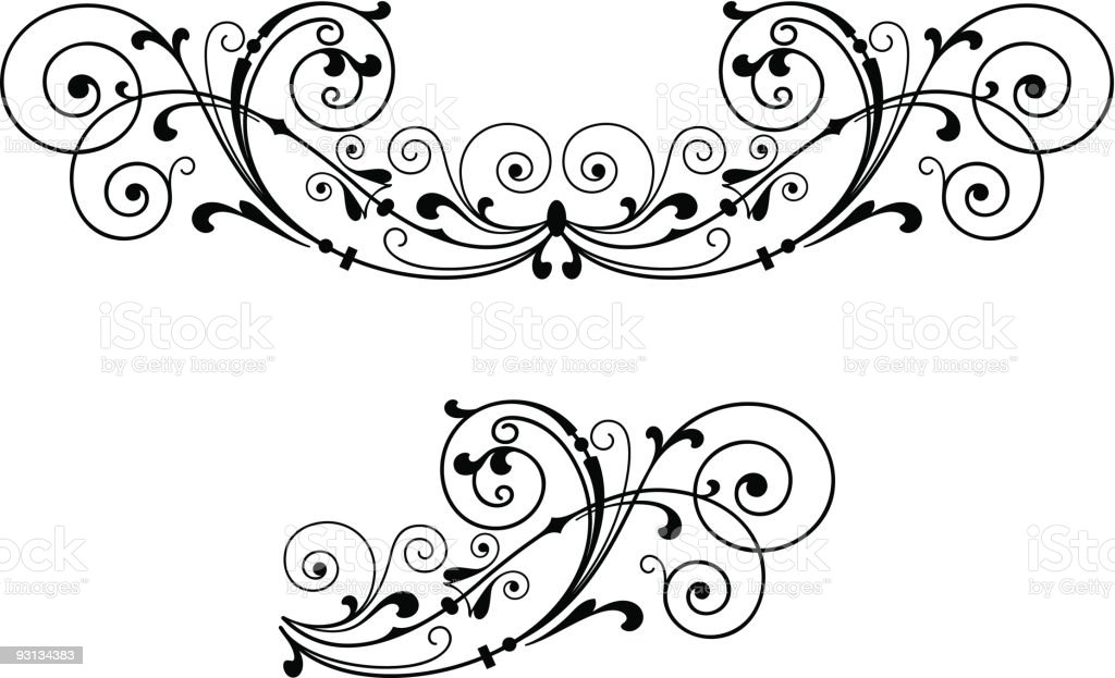 Scroll Decoration royalty-free stock vector art
