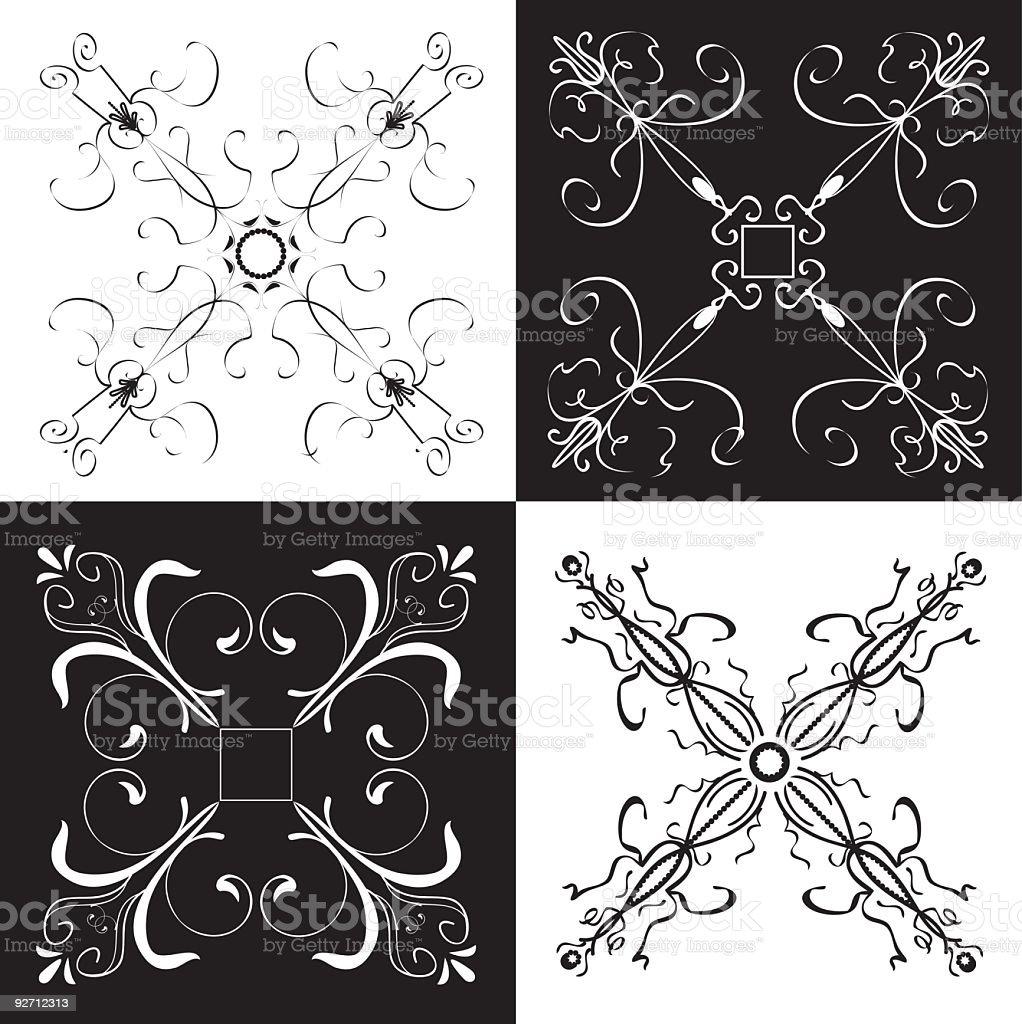 Scroll Designs vector art illustration