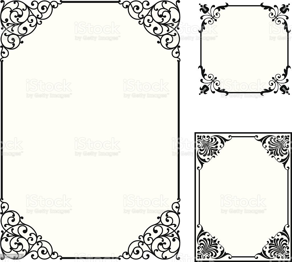 Scroll Frames vector art illustration