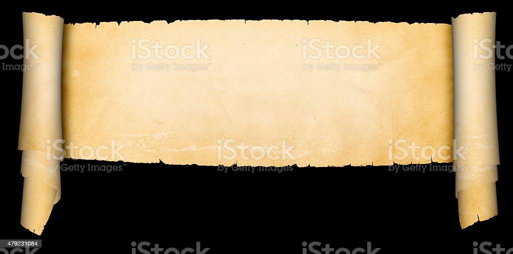 Scroll of antique parchment. vector art illustration