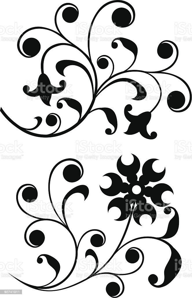 Scroll, ornament royalty-free stock vector art