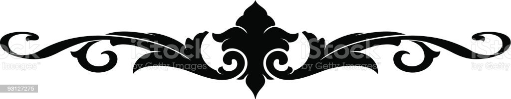 Scroll Ornament royalty-free stock vector art
