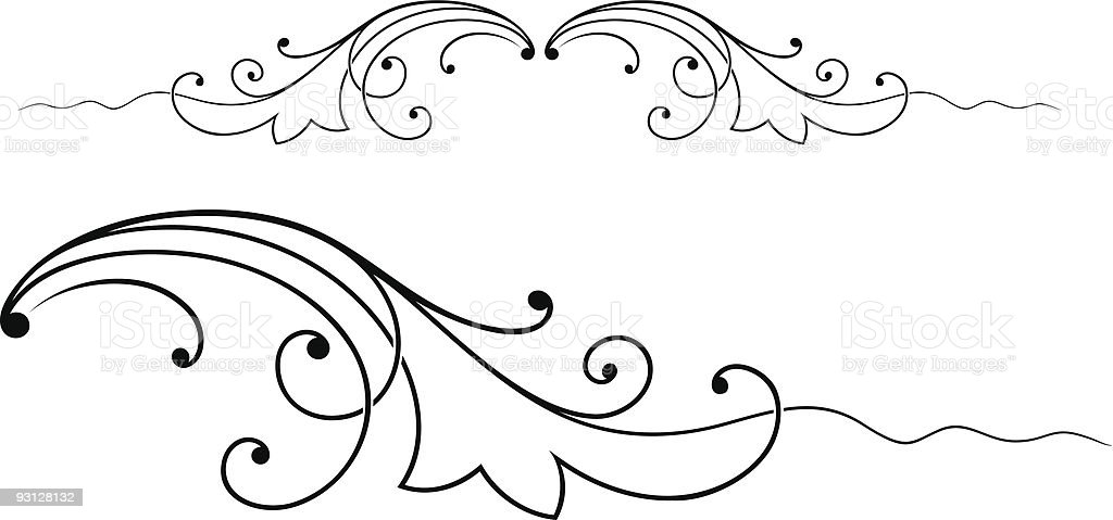 Scroll2b-62105 royalty-free stock vector art