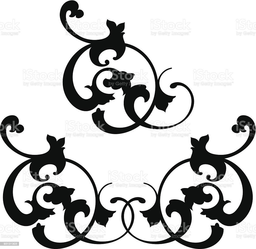 Scroll5-12504 royalty-free stock vector art
