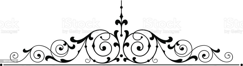 scroll5-71304 royalty-free stock vector art