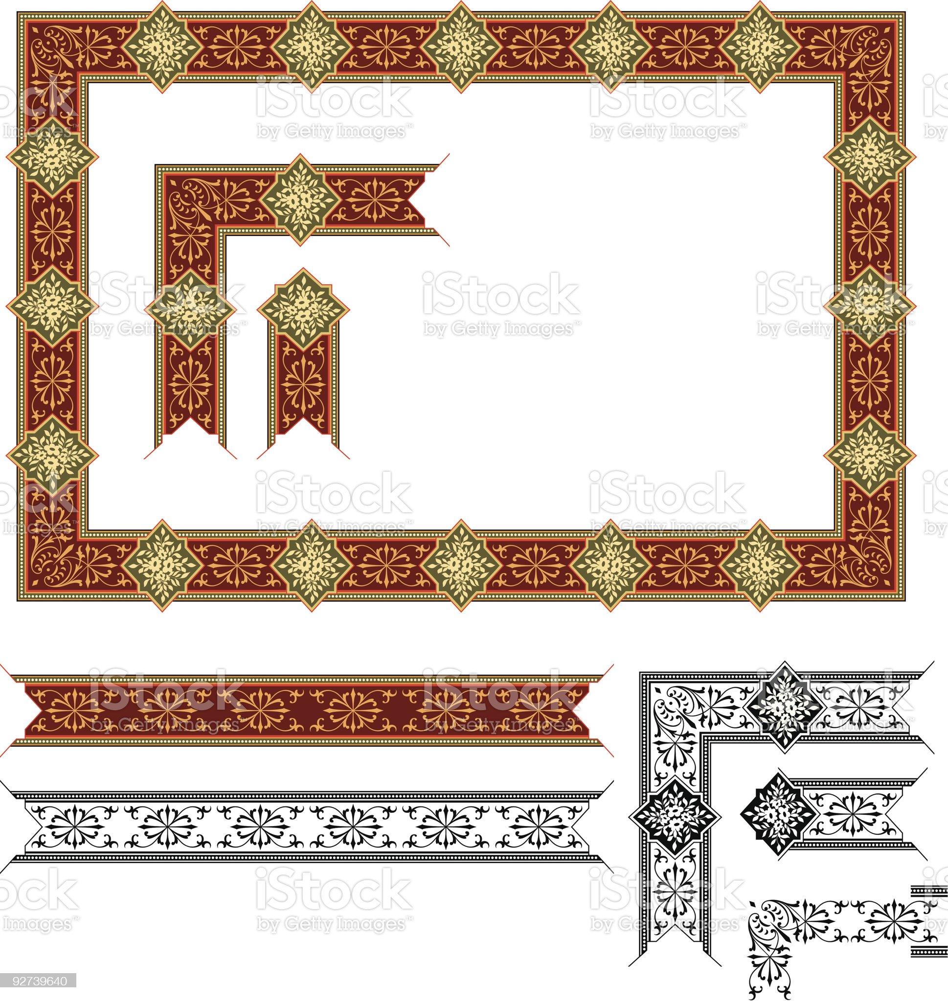 Scrolled Frame Design (Vector) royalty-free stock vector art