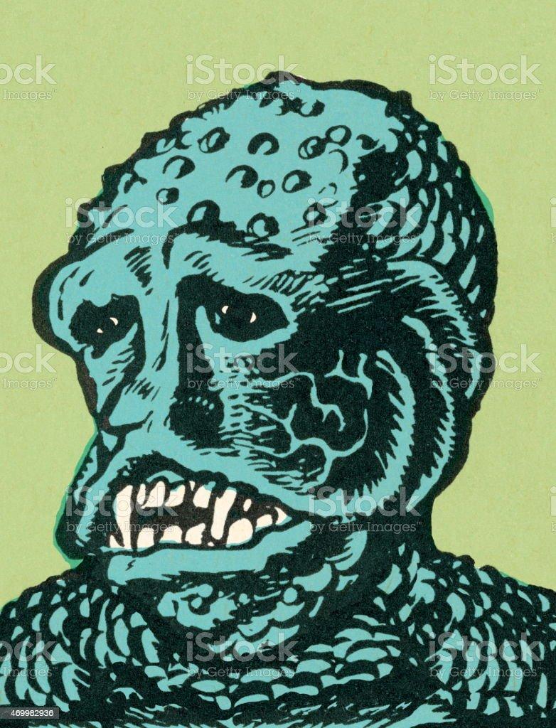 Sea creature vector art illustration