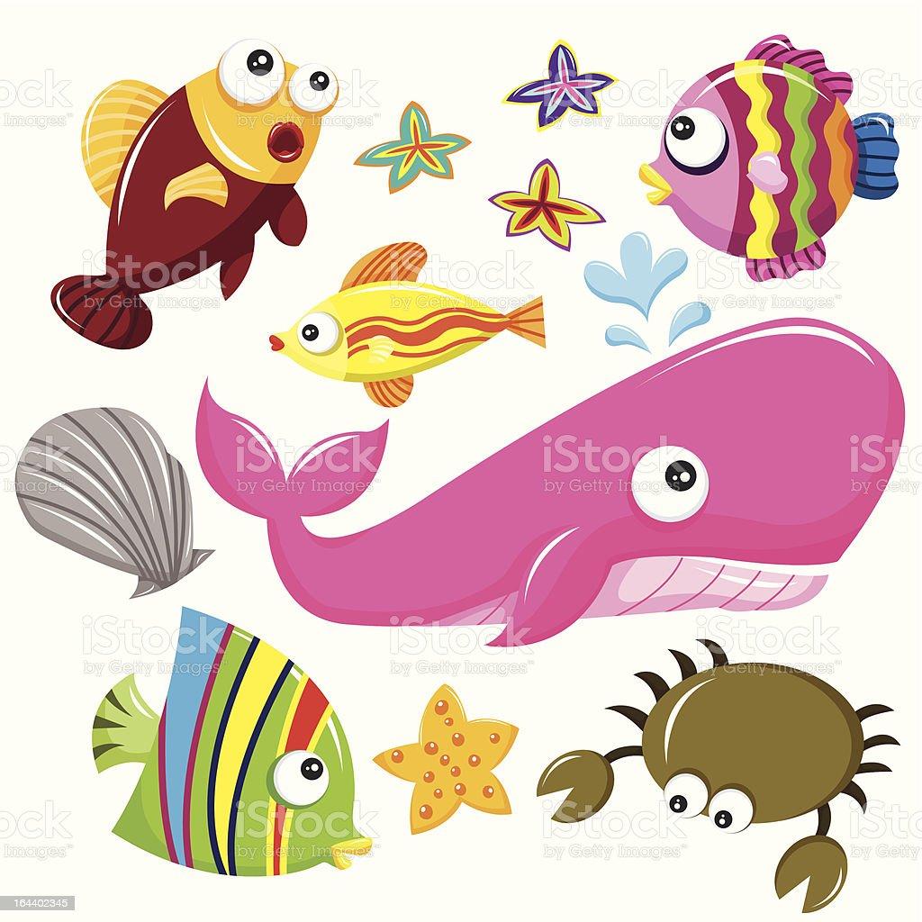 Sea Creatures royalty-free stock vector art