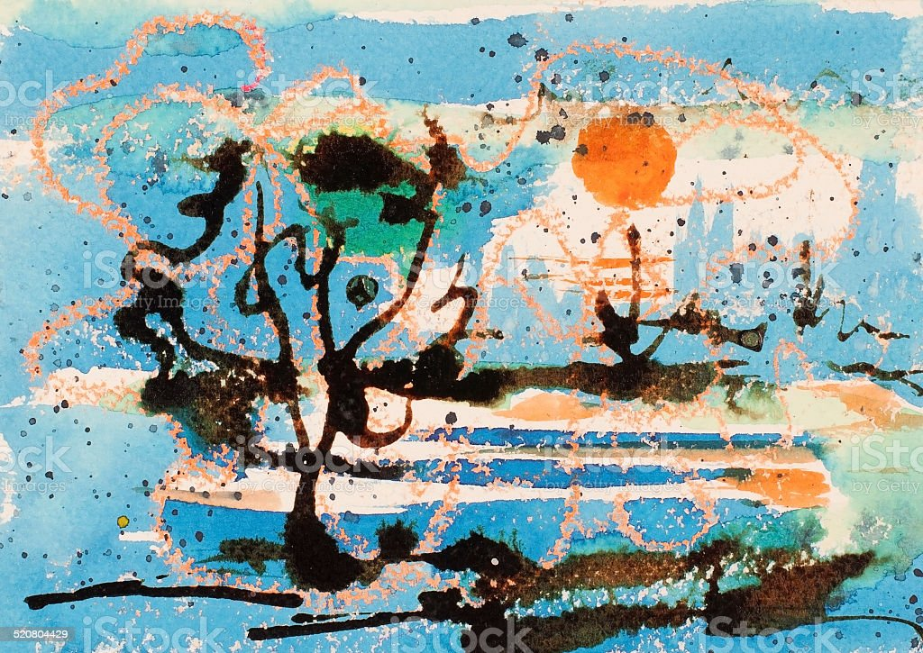 Baile al mar illustracion libre de derechos libre de derechos
