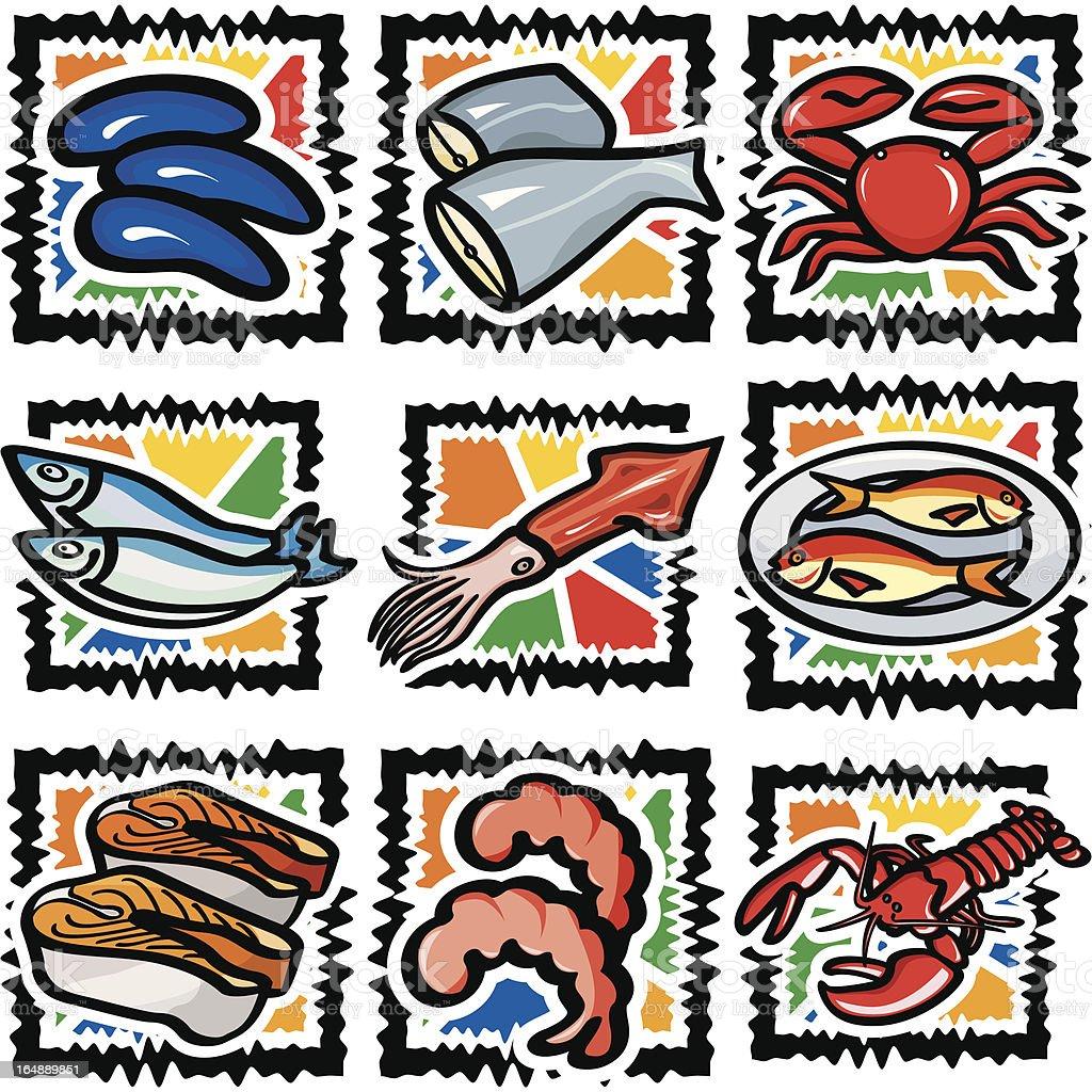 Sea Food (Vector) royalty-free stock vector art