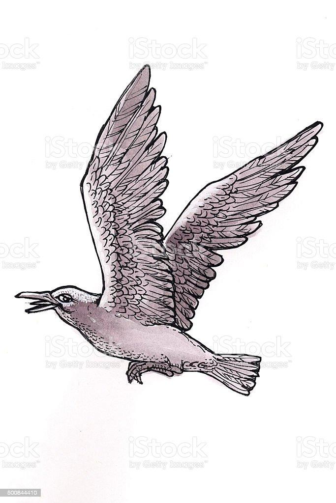 Sea Gull (Comic Lizenzfreies vektor illustration