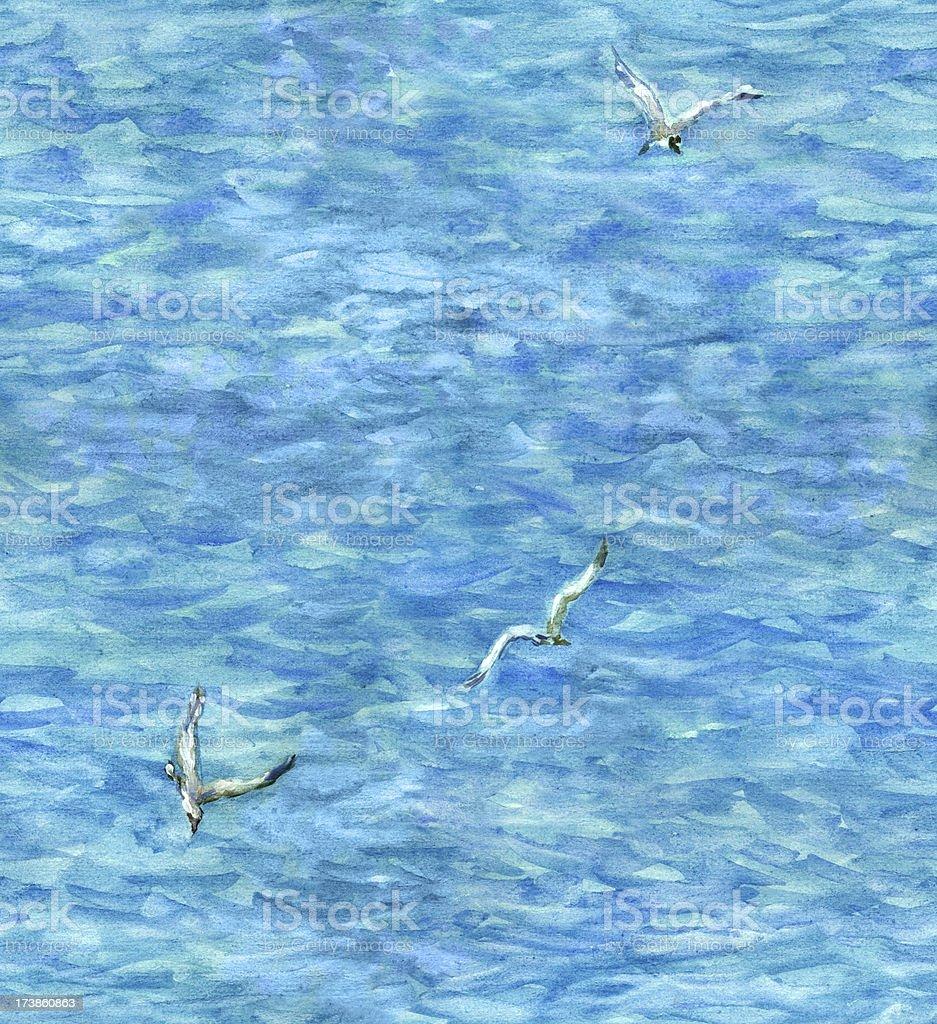 sea(seamless wallpaper) royalty-free stock vector art