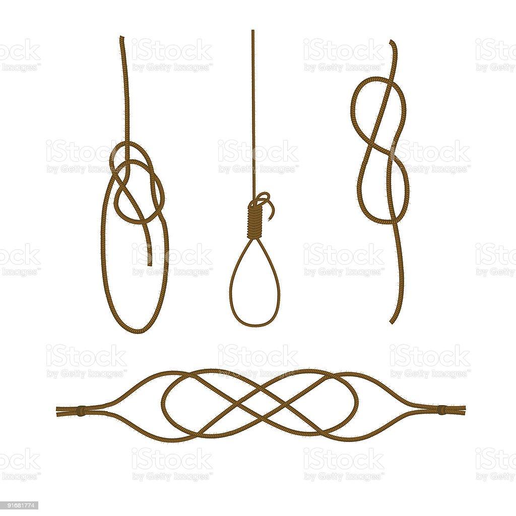 Sea knots royalty-free stock vector art
