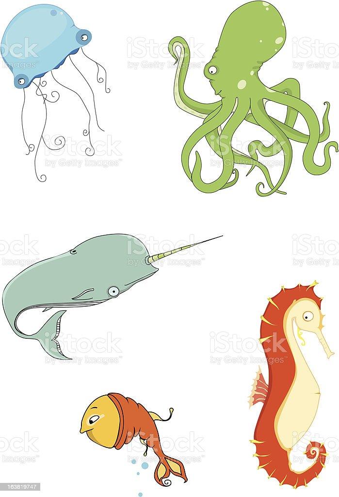 sea life vector art illustration