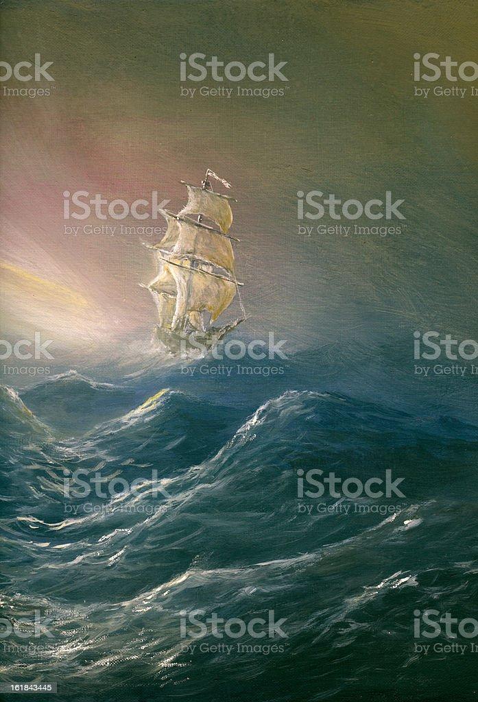 sea light vector art illustration