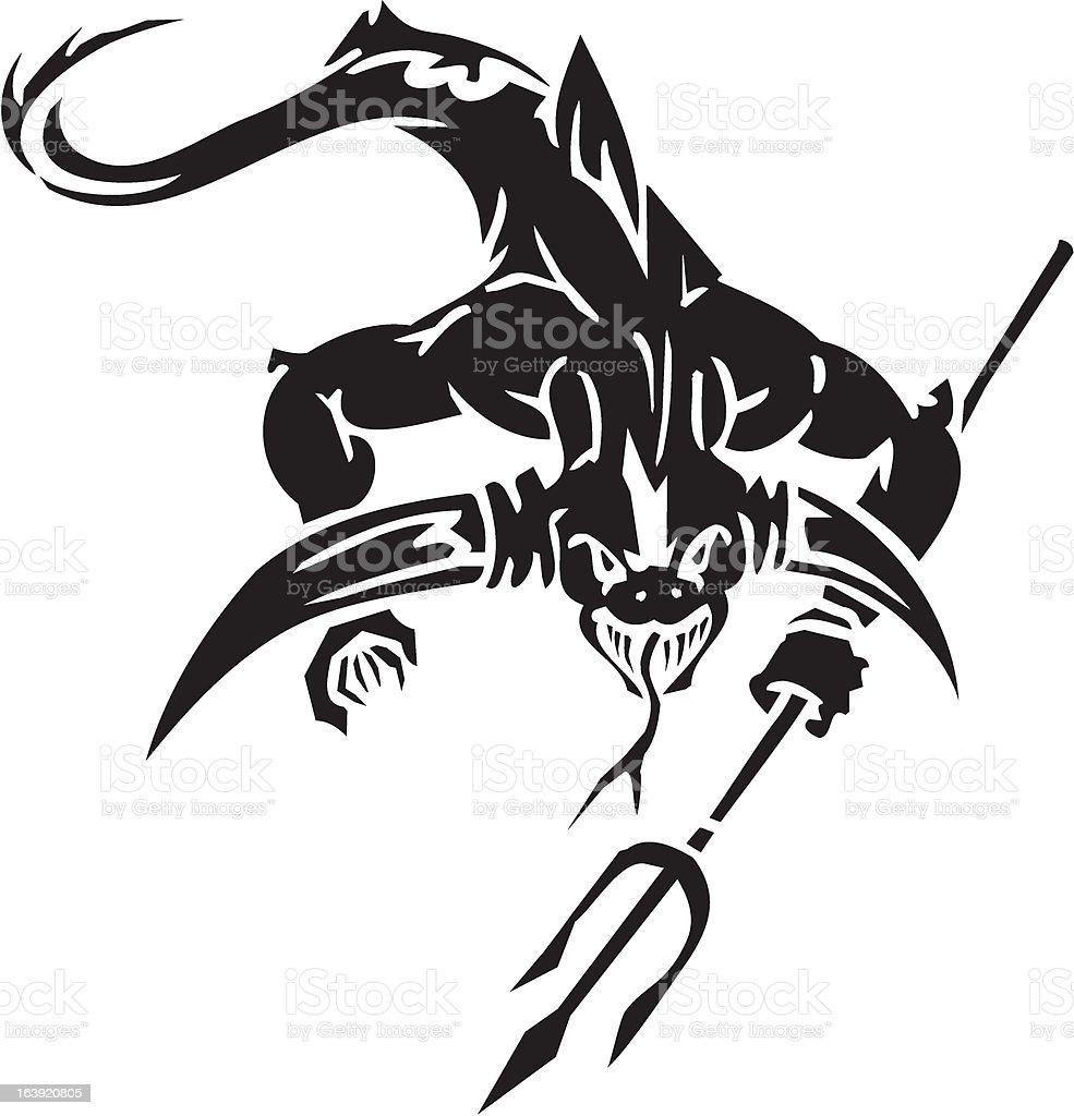 Sea Monster - vector illustration. Vinyl-ready. royalty-free stock vector art