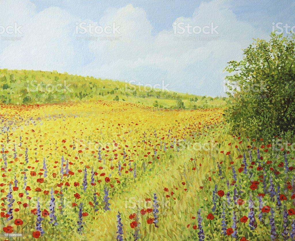 Sea of Blossom II royalty-free stock vector art