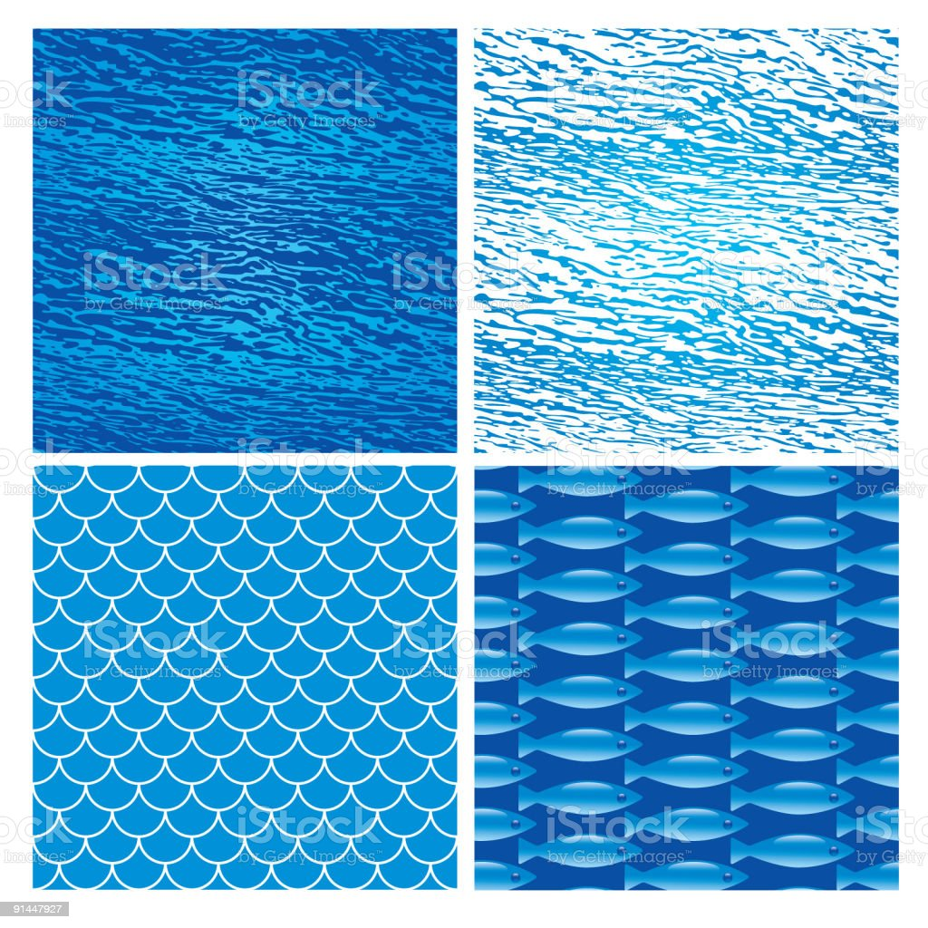 Sea patterns royalty-free stock vector art