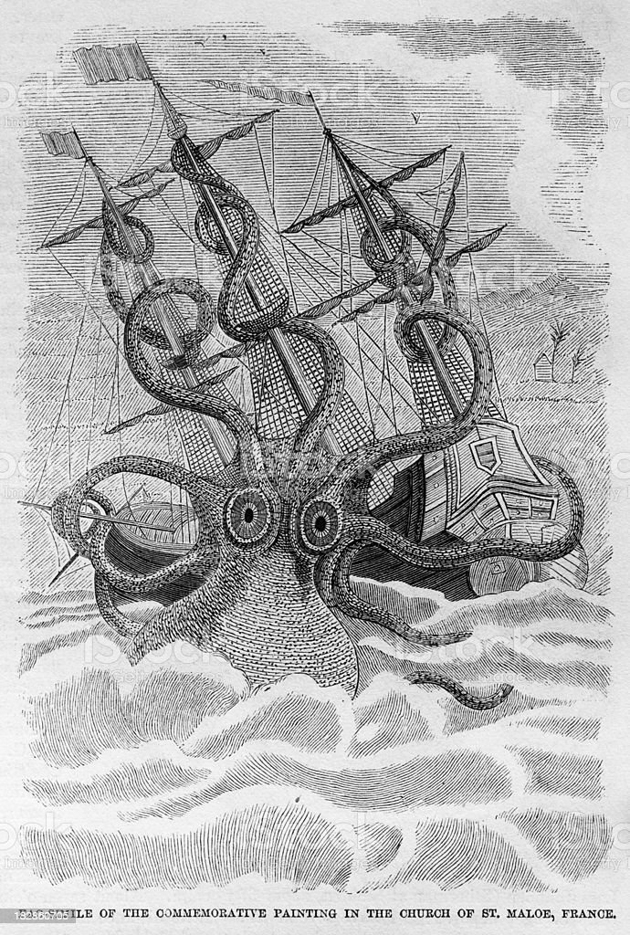 Sea Serpent vector art illustration