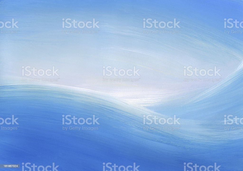 Sea Sunrise-Abstract Painted Background royalty-free stock vector art