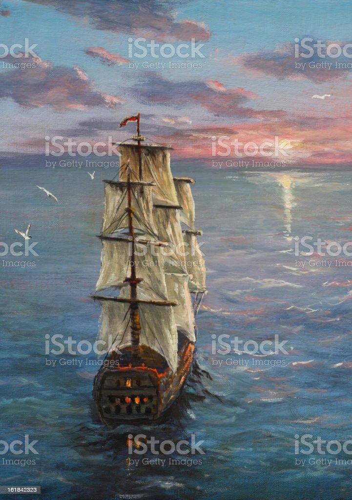 Sea travel royalty-free stock vector art