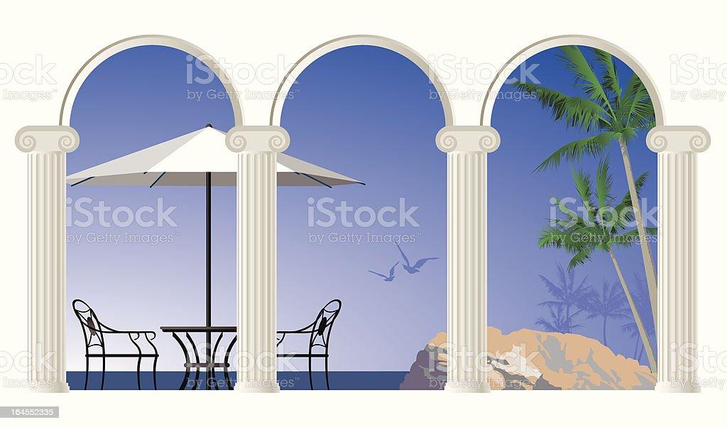 sea view royalty-free stock vector art