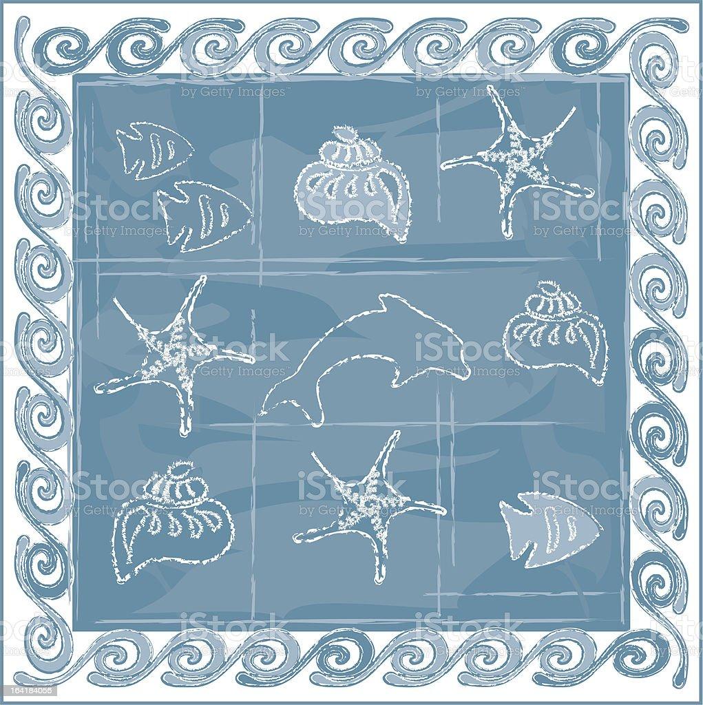 sea-frame royalty-free stock vector art