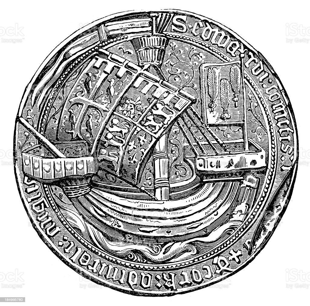 Seal - Edward Earl of Rutland royalty-free stock vector art