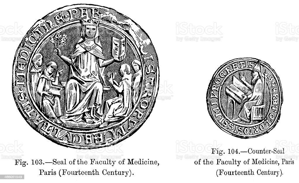 Seal - Faculty of Medicine royalty-free stock vector art