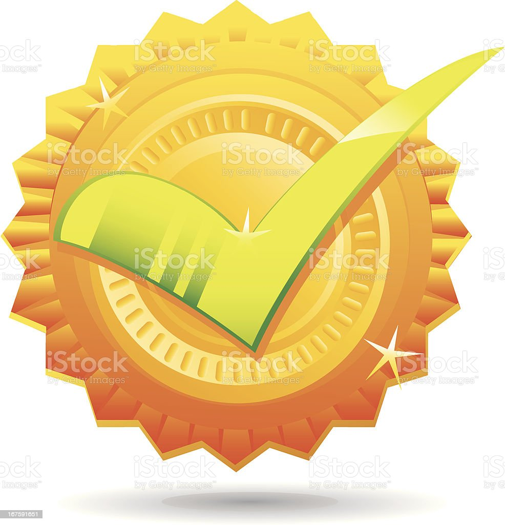 Seal of Approval Checkmark Icon royalty-free stock vector art