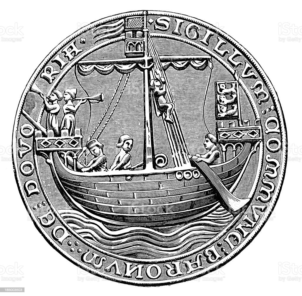 Seal - the City of Dover royalty-free stock vector art
