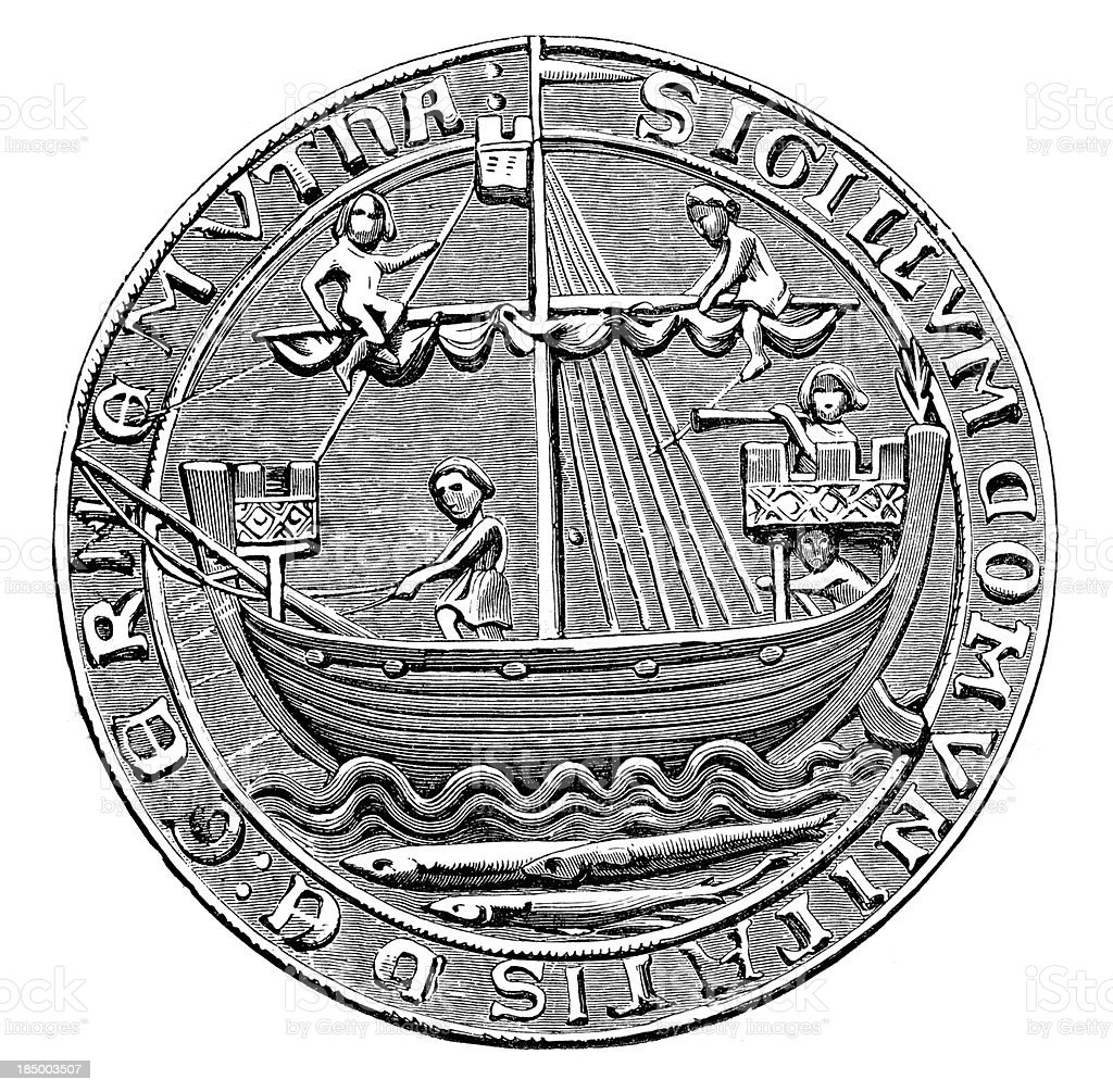 Seal - the City of Yarmouth royalty-free stock vector art