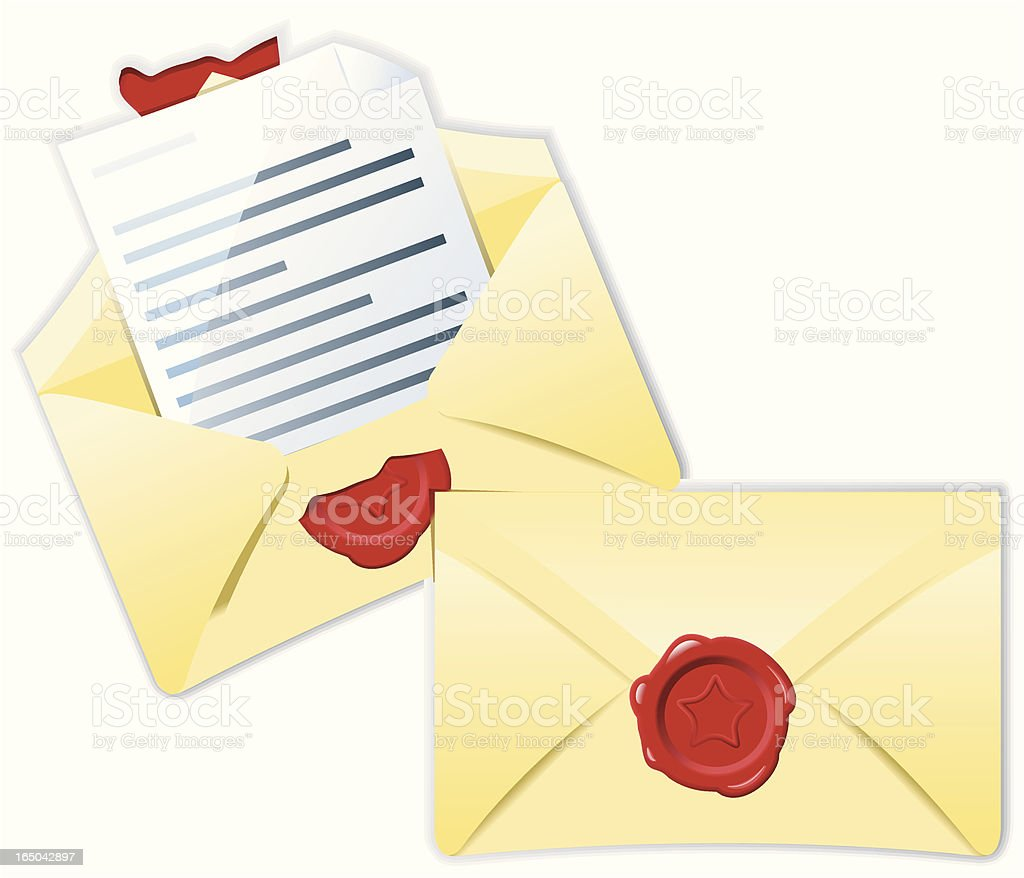 Sealed mail royalty-free stock vector art