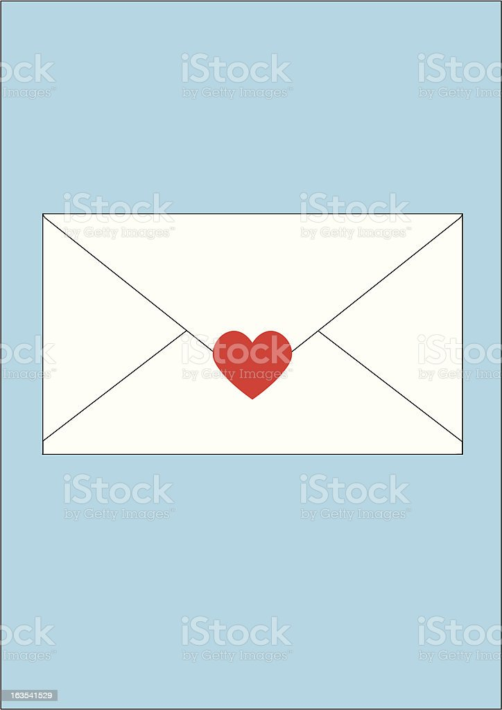 Sealed with love (Zipped file includes eps and jpeg versions) royalty-free stock vector art