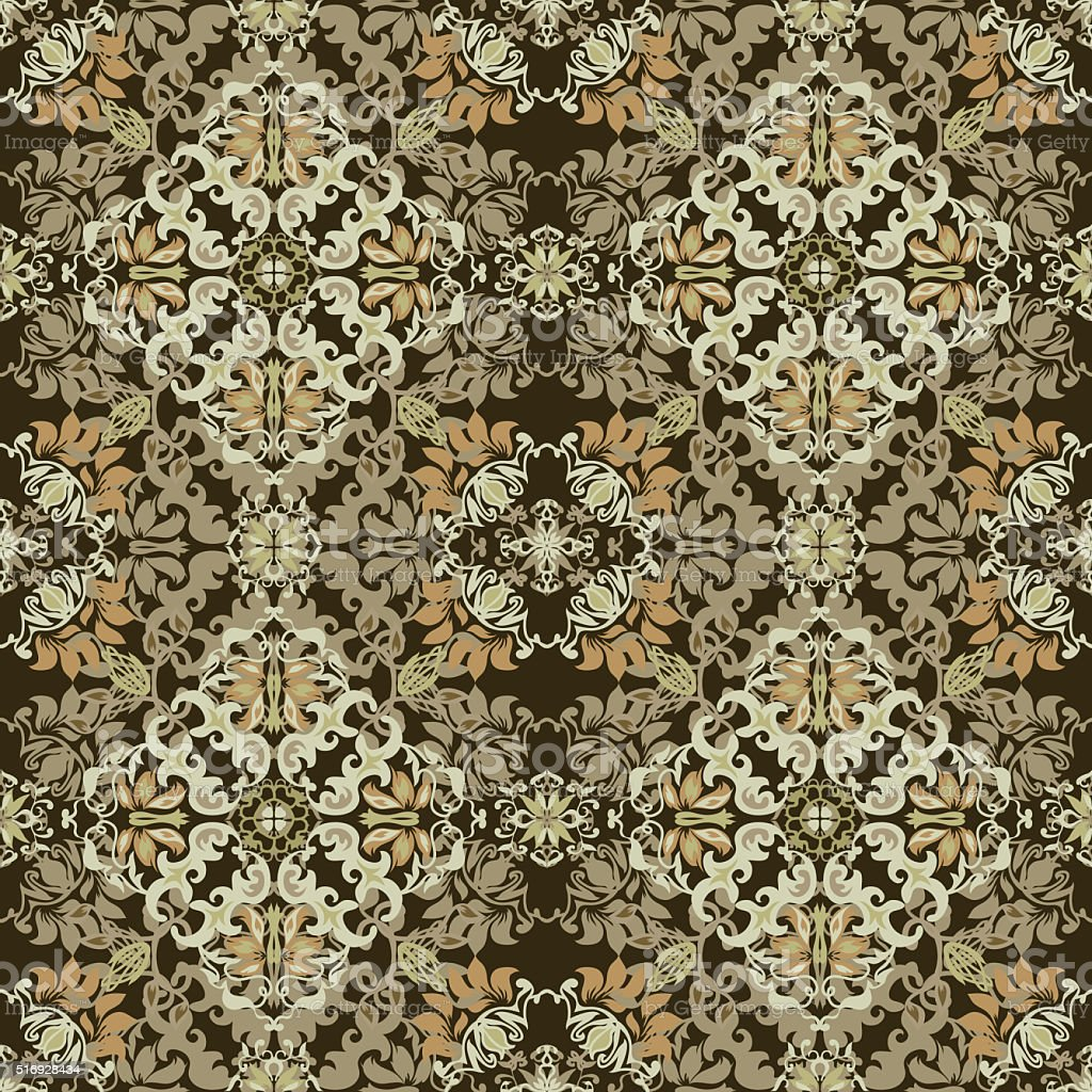 Seamless abstract floral pattern for fabric stock photo