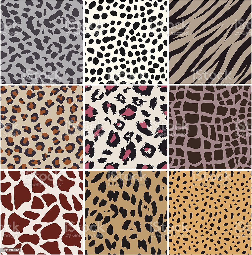seamless animal skin pattern royalty-free stock vector art