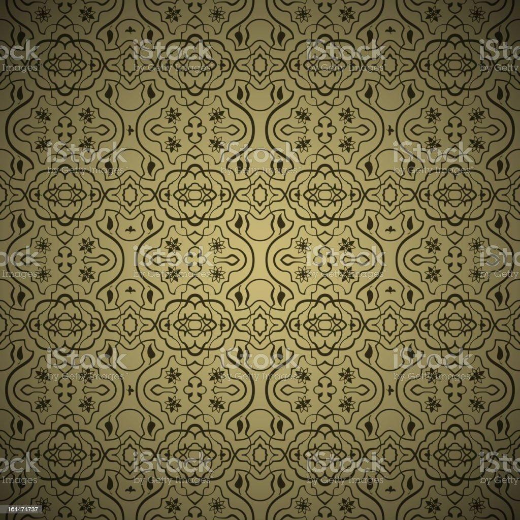 Seamless arabic gold pattern royalty-free stock vector art