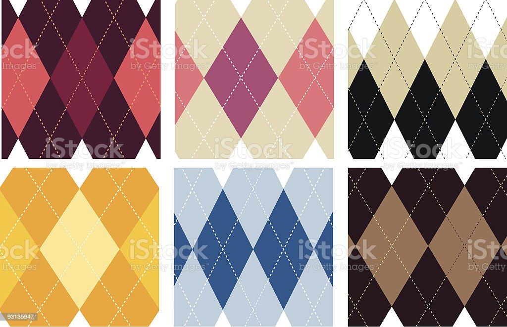 seamless argyle patterns royalty-free stock vector art
