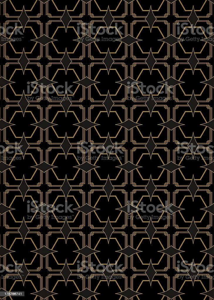 Seamless Art Deco Style Pattern vector art illustration