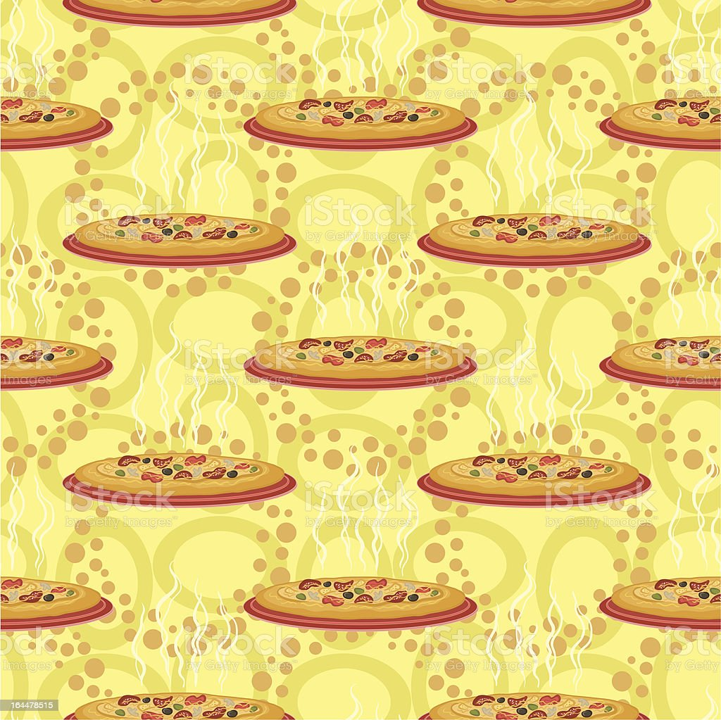 Seamless background, hot pizza royalty-free stock vector art
