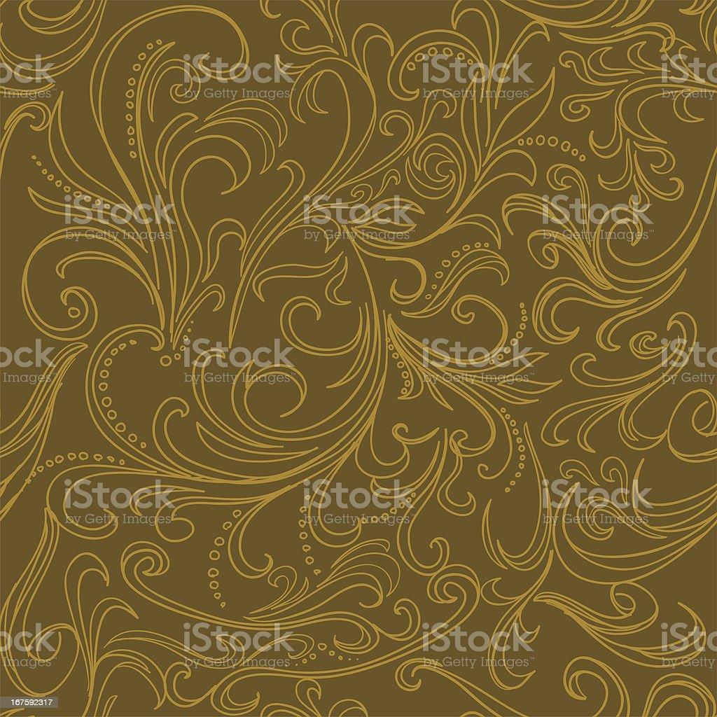 Seamless background -Ornate swirling royalty-free stock vector art