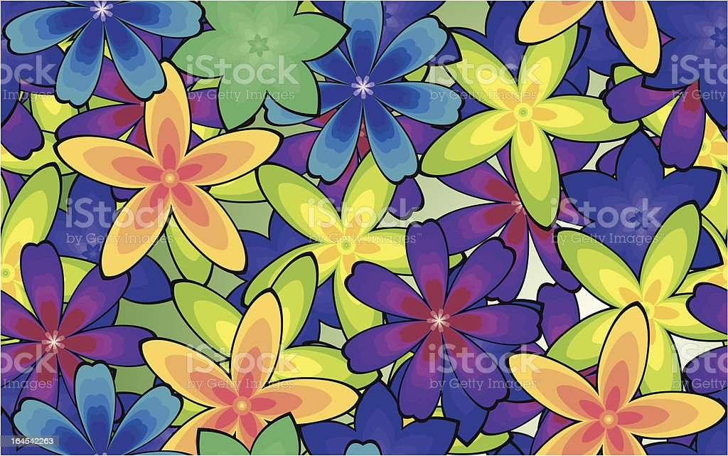 Seamless background with flowers royalty-free stock vector art