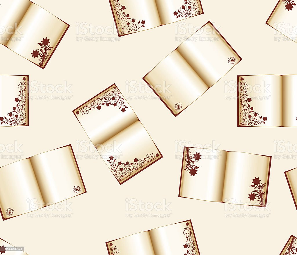 seamless background with open books royalty-free stock vector art