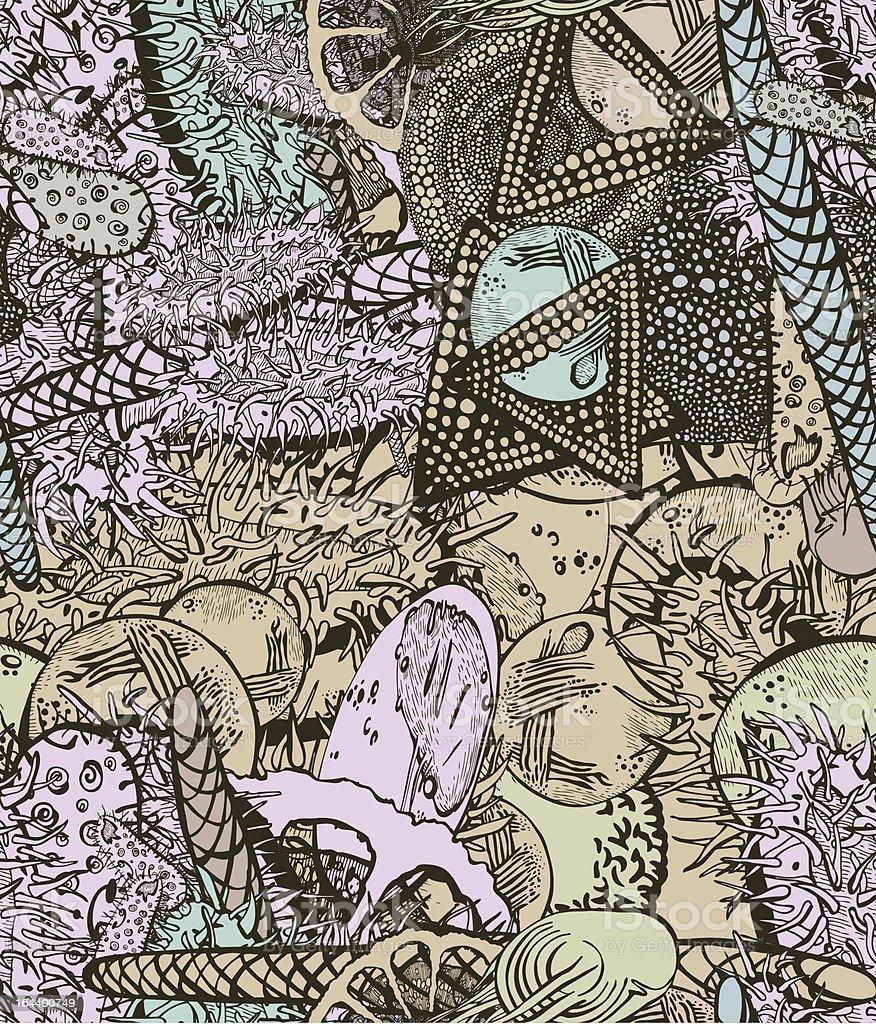 Seamless biology pattern royalty-free stock vector art