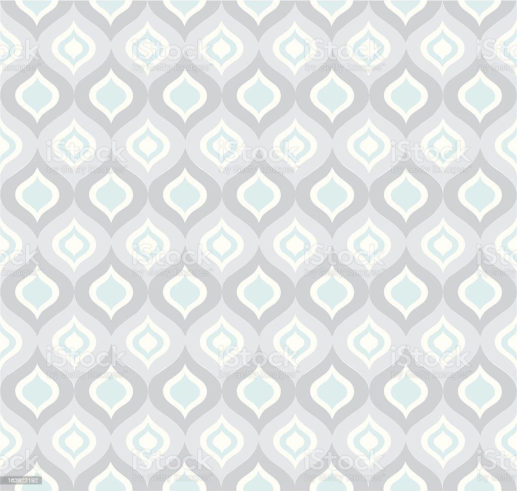 Seamless Blue Gray Ogee pattern vector art illustration
