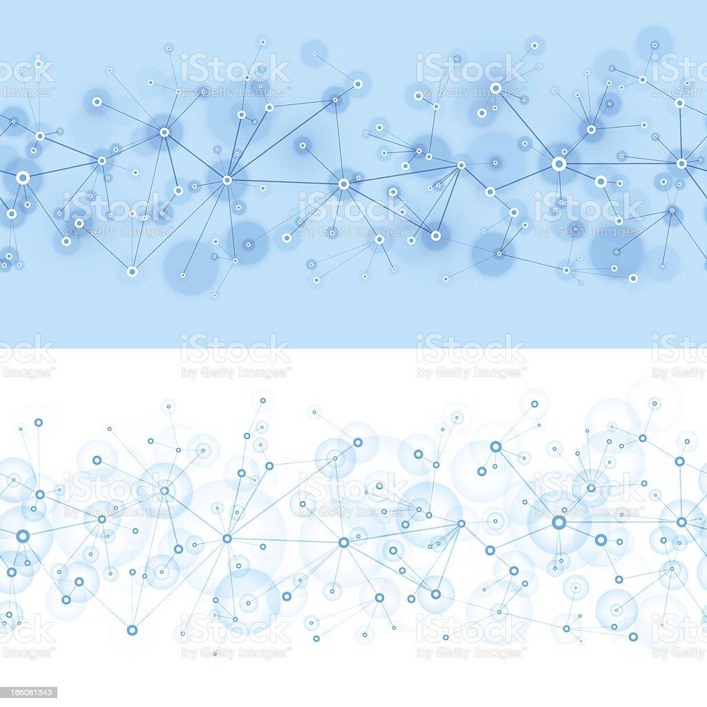 Seamless blue network royalty-free stock vector art